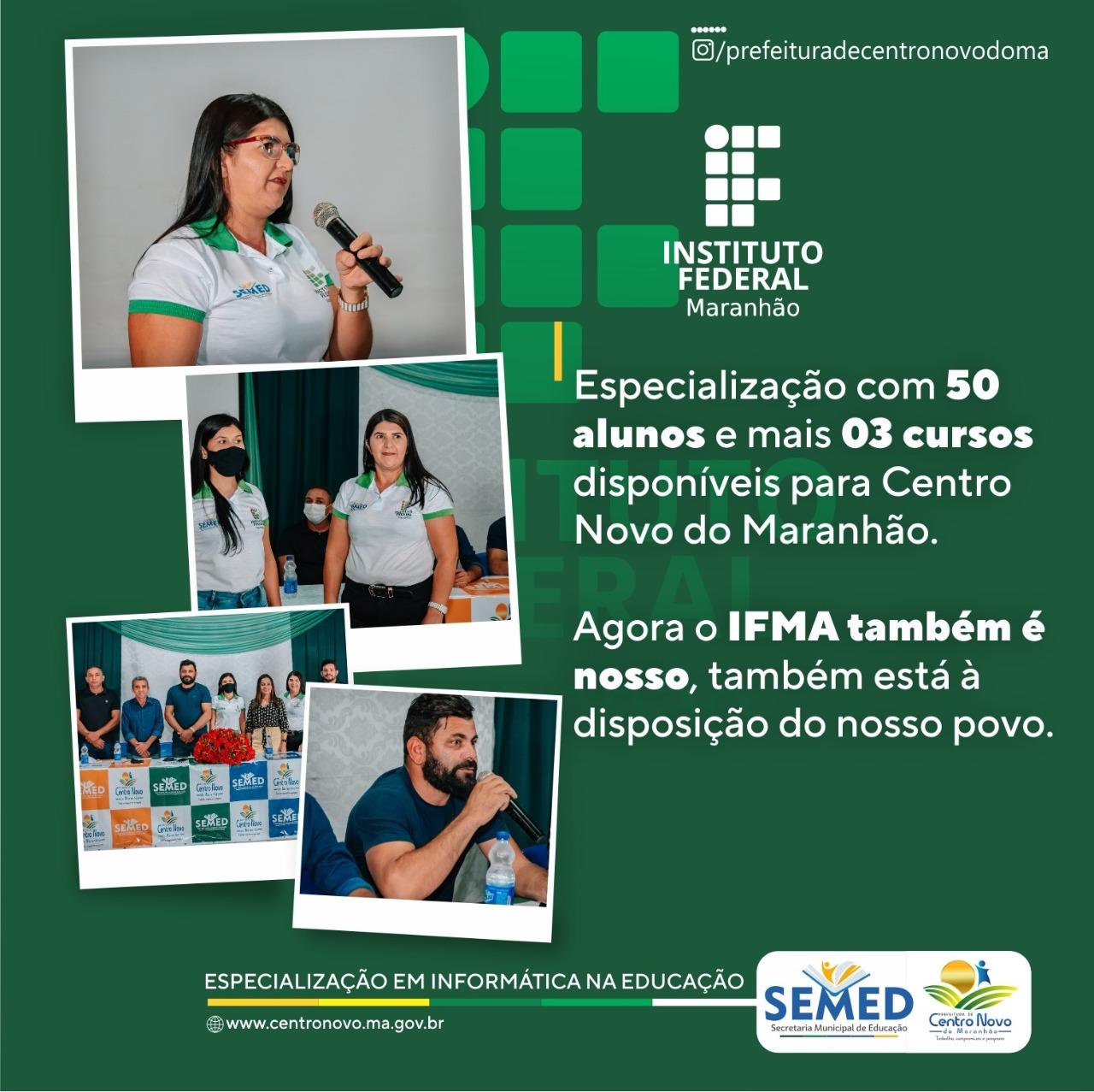 Centro Novo do Maranhão celebra parceria com o IFMA